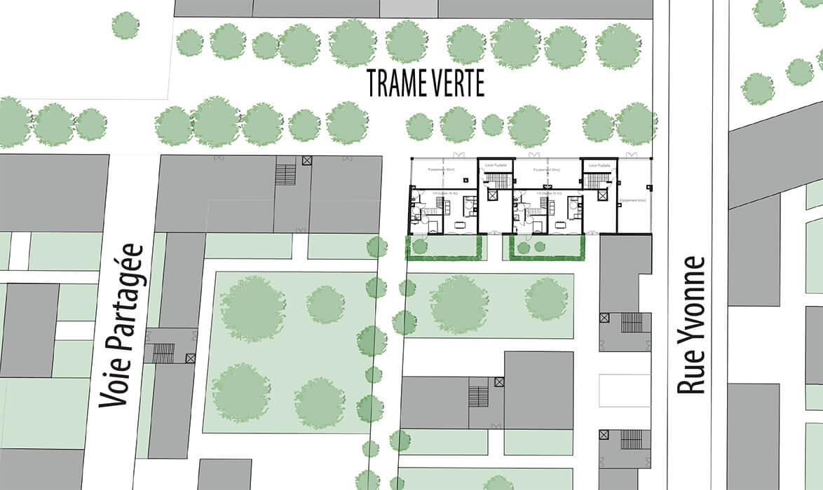 Maillage urbain alice mortamet - Plan de rez de chaussee ...